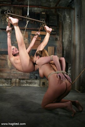 Photo number 9 from Sasha Sparks and Lacie Hart shot for Hogtied on Kink.com. Featuring Lacie Hart and Sasha Sparks in hardcore BDSM & Fetish porn.