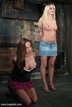Photo number 2 from Sasha Sparks and Lacie Hart shot for Hogtied on Kink.com. Featuring Lacie Hart and Sasha Sparks in hardcore BDSM & Fetish porn.