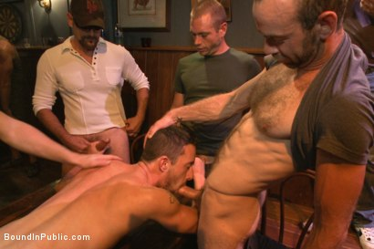 Photo number 7 from Gangbang and cum for a stuck up go-go boy shot for Bound in Public on Kink.com. Featuring Isaac Hardy, Connor Maguire and Dayton O'Connor in hardcore BDSM & Fetish porn.
