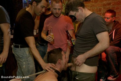 Photo number 10 from Gangbang and cum for a stuck up go-go boy shot for Bound in Public on Kink.com. Featuring Isaac Hardy, Connor Maguire and Dayton O'Connor in hardcore BDSM & Fetish porn.