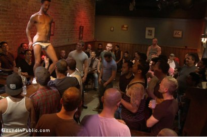 Photo number 1 from Gangbang and cum for a stuck up go-go boy shot for Bound in Public on Kink.com. Featuring Isaac Hardy, Connor Maguire and Dayton O'Connor in hardcore BDSM & Fetish porn.