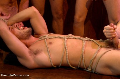 Photo number 14 from Ripped go-go boy beaten, fucked and covered in cum  shot for Bound in Public on Kink.com. Featuring Isaac Hardy, Connor Maguire and Dayton O'Connor in hardcore BDSM & Fetish porn.