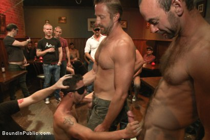 Photo number 3 from Ripped go-go boy beaten, fucked and covered in cum  shot for Bound in Public on Kink.com. Featuring Isaac Hardy, Connor Maguire and Dayton O'Connor in hardcore BDSM & Fetish porn.