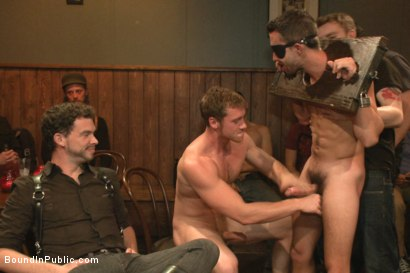 Photo number 1 from Ripped go-go boy beaten, fucked and covered in cum  shot for Bound in Public on Kink.com. Featuring Isaac Hardy, Connor Maguire and Dayton O'Connor in hardcore BDSM & Fetish porn.
