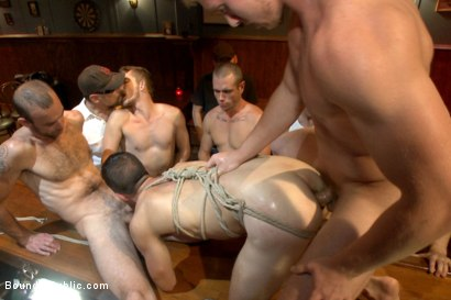 Photo number 11 from Ripped go-go boy beaten, fucked and covered in cum  shot for Bound in Public on Kink.com. Featuring Isaac Hardy, Connor Maguire and Dayton O'Connor in hardcore BDSM & Fetish porn.