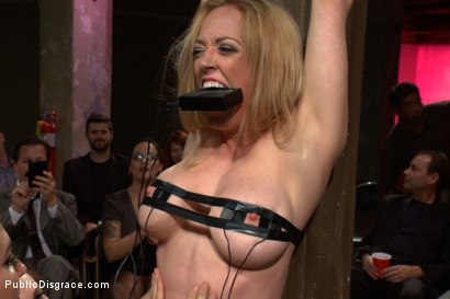 Photo number 2 from Darling Gets Fucked on Camera For the First Time at Kink! shot for Public Disgrace on Kink.com. Featuring John Strong and Dee Williams in hardcore BDSM & Fetish porn.