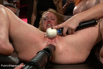 Photo number 14 from Darling Gets Fucked on Camera For the First Time at Kink! shot for Public Disgrace on Kink.com. Featuring John Strong and Dee Williams in hardcore BDSM & Fetish porn.