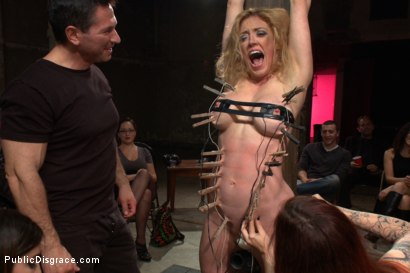 Photo number 3 from Darling Gets Fucked on Camera For the First Time at Kink! shot for Public Disgrace on Kink.com. Featuring John Strong and Dee Williams in hardcore BDSM & Fetish porn.