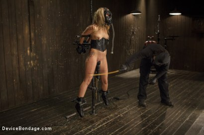 Photo number 14 from Hot Blonde is devastated by sadistic torment and screaming orgasms!!  shot for Device Bondage on Kink.com. Featuring Orlando and Dallas Blaze in hardcore BDSM & Fetish porn.