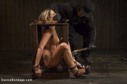 Photo number 4 from Hot Blonde is devastated by sadistic torment and screaming orgasms!!  shot for Device Bondage on Kink.com. Featuring Orlando and Dallas Blaze in hardcore BDSM & Fetish porn.