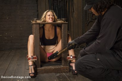 Photo number 1 from Hot Blonde is devastated by sadistic torment and screaming orgasms!!  shot for Device Bondage on Kink.com. Featuring Orlando and Dallas Blaze in hardcore BDSM & Fetish porn.