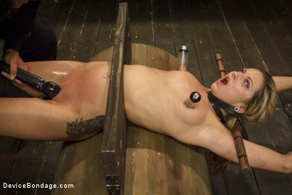Photo number 7 from Hot Blonde is devastated by sadistic torment and screaming orgasms!!  shot for Device Bondage on Kink.com. Featuring Orlando and Dallas Blaze in hardcore BDSM & Fetish porn.