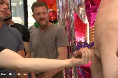 Photo number 9 from The Balloon Shop Whore shot for Bound in Public on Kink.com. Featuring Jace Chambers, Presley Wright and Rich Kelly in hardcore BDSM & Fetish porn.
