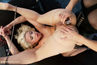 Photo number 15 from Blonde Bombshell Anal Electrofucked LIVE shot for Electro Sluts on Kink.com. Featuring Anikka Albrite and Lea Lexis in hardcore BDSM & Fetish porn.