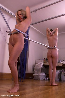 Photo number 2 from Anna Mills and Molly Matthews shot for Hogtied on Kink.com. Featuring Molly Matthews and Anna Mills in hardcore BDSM & Fetish porn.