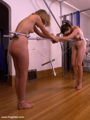 Photo number 8 from Anna Mills and Molly Matthews shot for Hogtied on Kink.com. Featuring Molly Matthews and Anna Mills in hardcore BDSM & Fetish porn.