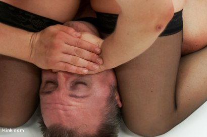 Photo number 9 from Chauvinistic Pig gets Beatdown by muscular babe after date goes bad shot for Kink Test Shoots on Kink.com. Featuring Cheyenne Jewel and Tommy Utah in hardcore BDSM & Fetish porn.