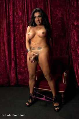 Photo number 7 from BONUS: AUDITION POV DOM SHOOT WITH NEVER SEEN BEFORE BABE, JESSY DUBAI shot for TS Seduction on Kink.com. Featuring Jessy Dubai in hardcore BDSM & Fetish porn.