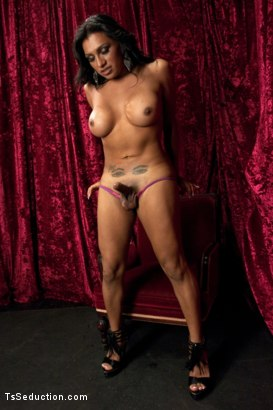 Photo number 3 from BONUS: AUDITION POV DOM SHOOT WITH NEVER SEEN BEFORE BABE, JESSY DUBAI shot for TS Seduction on Kink.com. Featuring Jessy Dubai in hardcore BDSM & Fetish porn.