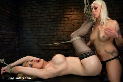 Photo number 12 from A different Hunt:Lorelei Lee binds Eva Lin in Sexy Inescapable Bondage shot for TS Pussy Hunters on Kink.com. Featuring Eva Lin and Lorelei Lee in hardcore BDSM & Fetish porn.