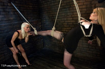 Photo number 4 from A different Hunt:Lorelei Lee binds Eva Lin in Sexy Inescapable Bondage shot for TS Pussy Hunters on Kink.com. Featuring Eva Lin and Lorelei Lee in hardcore BDSM & Fetish porn.