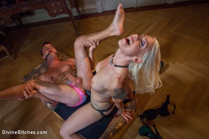 Photo number 7 from Divine Bitches Takes on Eastern Europe! Slaveboy Games: Are You Worthy? Episode 1 shot for Divine Bitches on Kink.com. Featuring Jenny Simons, Marco Bon Phoenix, Richy and Lorelei Lee in hardcore BDSM & Fetish porn.