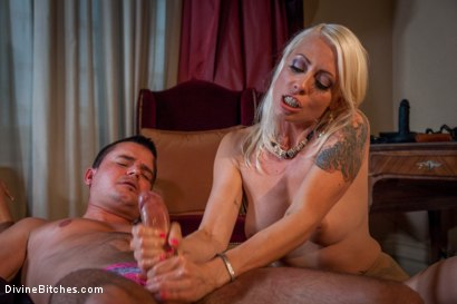 Photo number 13 from Divine Bitches Takes on Eastern Europe! Slaveboy Games: Are You Worthy? Episode 1 shot for Divine Bitches on Kink.com. Featuring Jenny Simons, Marco Bon Phoenix, Richy and Lorelei Lee in hardcore BDSM & Fetish porn.