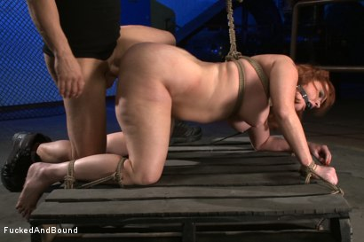 Photo number 6 from Begging To Cum shot for Fucked and Bound on Kink.com. Featuring Derrick Pierce and Julie Simone in hardcore BDSM & Fetish porn.