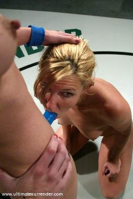Photo number 14 from The Gymnast (Lifetime 0-2) vs.<br>The Blond Giant (Lifetime 0-1) shot for Ultimate Surrender on Kink.com. Featuring Wenona and Jolene in hardcore BDSM & Fetish porn.