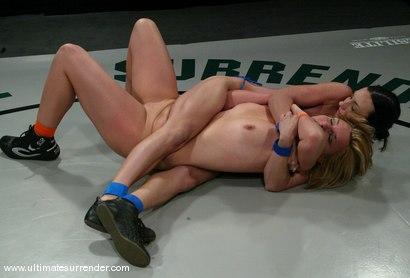 Photo number 4 from The Gymnast (Lifetime 0-2) vs.<br>The Blond Giant (Lifetime 0-1) shot for Ultimate Surrender on Kink.com. Featuring Wenona and Jolene in hardcore BDSM & Fetish porn.