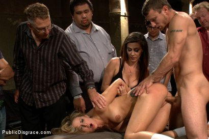 Photo number 7 from 20 Year Old Amateur Bound and Disgraced shot for Public Disgrace on Kink.com. Featuring Mr. Pete and Dallas Blaze in hardcore BDSM & Fetish porn.
