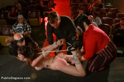 Photo number 6 from Slinky slut gives it up in an adult movie theater. shot for Public Disgrace on Kink.com. Featuring Bella Nikole Black and Astral Dust in hardcore BDSM & Fetish porn.