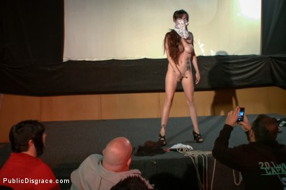 Photo number 7 from Slinky slut gives it up in an adult movie theater. shot for Public Disgrace on Kink.com. Featuring Bella Nikole Black and Astral Dust in hardcore BDSM & Fetish porn.