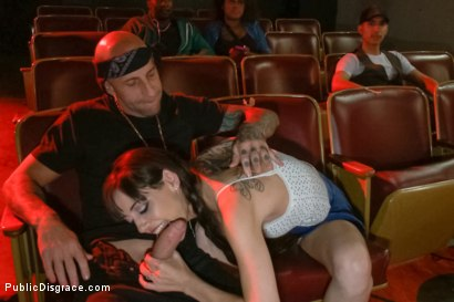Photo number 2 from Slinky slut gives it up in an adult movie theater. shot for Public Disgrace on Kink.com. Featuring Bella Nikole Black and Astral Dust in hardcore BDSM & Fetish porn.
