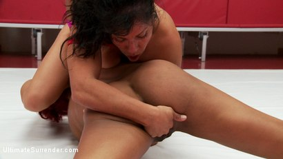 Photo number 8 from Can Izamar deflower Daisy? 2 strong wrestlers fight for sexual control shot for Ultimate Surrender on Kink.com. Featuring Izamar Gutierrez and Daisy Ducati in hardcore BDSM & Fetish porn.