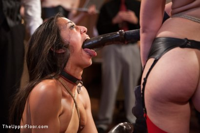 Photo number 4 from Slave Lyla's Anal Return, and the Order of Authority shot for The Upper Floor on Kink.com. Featuring Bill Bailey, Juliette March and Lyla Storm in hardcore BDSM & Fetish porn.
