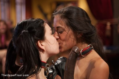 Photo number 2 from Slave Lyla's Anal Return, and the Order of Authority shot for The Upper Floor on Kink.com. Featuring Bill Bailey, Juliette March and Lyla Storm in hardcore BDSM & Fetish porn.