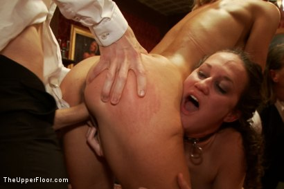 Photo number 7 from Making an Upper Floor Slave, and Monster Cock Fucks Hot Blonde Slut shot for The Upper Floor on Kink.com. Featuring Owen Gray, Bonnie Day  and Cherie Deville in hardcore BDSM & Fetish porn.