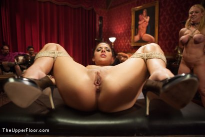 Photo number 11 from Big Tits Blonde Slave Suspended for Anal Fuck vs. Petite Cock Sucker shot for The Upper Floor on Kink.com. Featuring Evilyn Fierce, Owen Gray and Dee Williams in hardcore BDSM & Fetish porn.