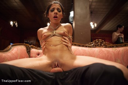 Photo number 3 from Big Tits Blonde Slave Suspended for Anal Fuck vs. Petite Cock Sucker shot for The Upper Floor on Kink.com. Featuring Evilyn Fierce, Owen Gray and Dee Williams in hardcore BDSM & Fetish porn.