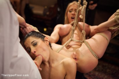 Photo number 7 from Big Tits Blonde Slave Suspended for Anal Fuck vs. Petite Cock Sucker shot for The Upper Floor on Kink.com. Featuring Evilyn Fierce, Owen Gray and Dee Williams in hardcore BDSM & Fetish porn.