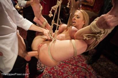 Photo number 8 from Big Tits Blonde Slave Suspended for Anal Fuck vs. Petite Cock Sucker shot for The Upper Floor on Kink.com. Featuring Evilyn Fierce, Owen Gray and Dee Williams in hardcore BDSM & Fetish porn.