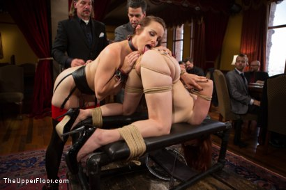 Photo number 6 from Beautiful Cock Suckers Petition the House shot for The Upper Floor on Kink.com. Featuring Mickey Mod, Penny Pax and Bella Rossi in hardcore BDSM & Fetish porn.