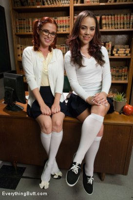 Photo number 1 from Classroom Anal Girls! Kristina and Penny shot for Everything Butt on Kink.com. Featuring Kristina Rose and Penny Pax in hardcore BDSM & Fetish porn.