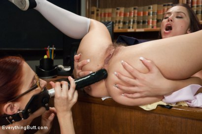 Photo number 7 from Classroom Anal Girls! Kristina and Penny shot for Everything Butt on Kink.com. Featuring Kristina Rose and Penny Pax in hardcore BDSM & Fetish porn.