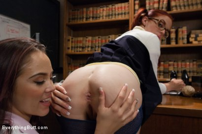 Photo number 3 from Classroom Anal Girls! Kristina and Penny shot for Everything Butt on Kink.com. Featuring Kristina Rose and Penny Pax in hardcore BDSM & Fetish porn.