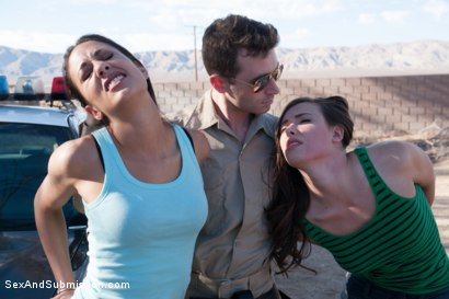 Photo number 2 from Brutal Consent: A Featured Presentation shot for Sex And Submission on Kink.com. Featuring James Deen, Casey Calvert  and Lyla Storm in hardcore BDSM & Fetish porn.