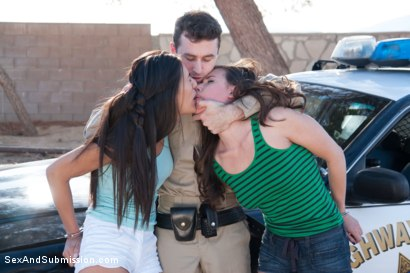 Photo number 3 from Brutal Consent: A Featured Presentation shot for Sex And Submission on Kink.com. Featuring James Deen, Casey Calvert and Lyla Storm in hardcore BDSM & Fetish porn.