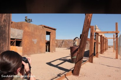 Photo number 2 from Operation Desert Anal: A Feature Presentation: Two Beautiful Girls Brutally Fucked in the Desert shot for Sex And Submission on Kink.com. Featuring James Deen, Casey Calvert  and Lyla Storm in hardcore BDSM & Fetish porn.