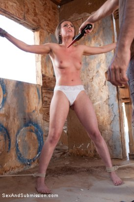 Photo number 9 from Operation Desert Anal: A Feature Presentation: Two Beautiful Girls Brutally Fucked in the Desert shot for Sex And Submission on Kink.com. Featuring James Deen, Casey Calvert  and Lyla Storm in hardcore BDSM & Fetish porn.